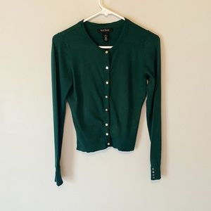 WHBM Forest Green Woman's Cardigan